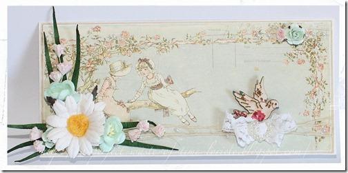 Card daisy Loriete