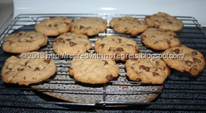 Simple Gluten-Free Chocolate Chip Cookies - cooling on rack