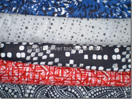 2013 January backing fabrics