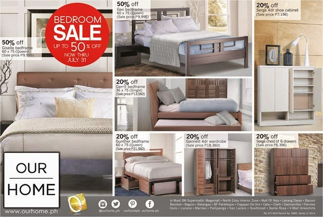 Our Home Bedroom Sale Catalog