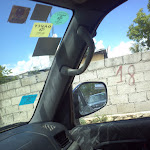 Driving on roads in Port-Au-Prince, Haiti 