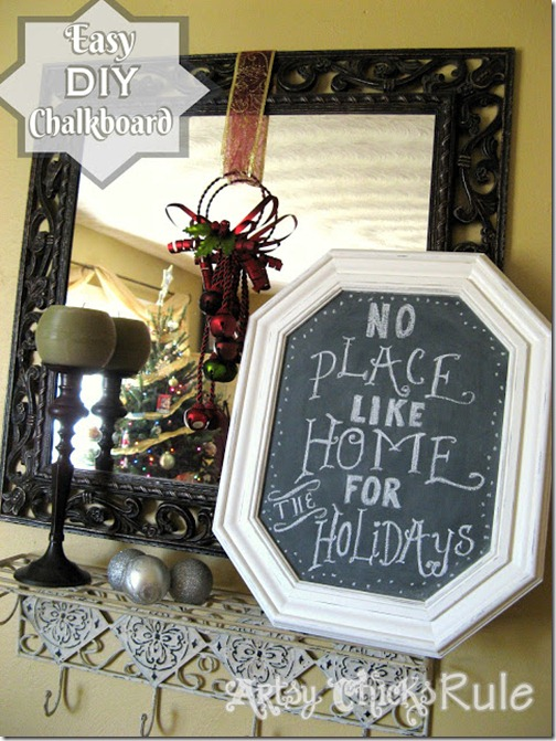 DIY Chalkboard from Pictures from Artsy Chicks Rule