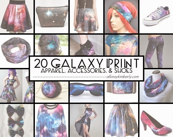 20 Galaxy Print Apparel, Accessories, and Shoes (Fangirl Fashions ed. 29) | allonsykimberly.com
