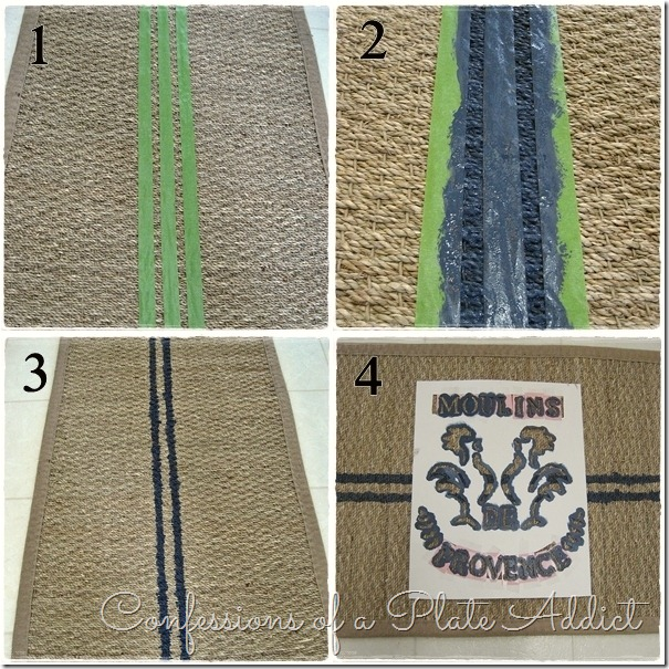 CONFESSIONS OF A PLATE ADDICT French Grain Sack Rug Tutorial