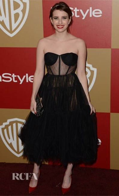 Emma-Roberts-in-Maria-Lucia-Hohan-Golden-Globe-Party