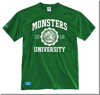 Monster University X Giordano - Green Tee shirt  Men