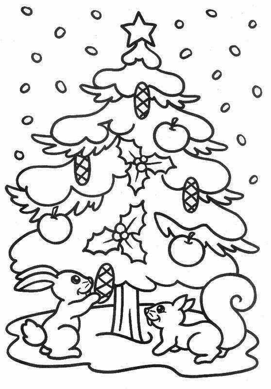 Arbol de navidad 2012 para colorear o pintar