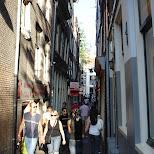 alley ways in amsterdam in Amsterdam, Noord Holland, Netherlands