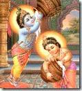 [Krishna and Balarama stealing butter]