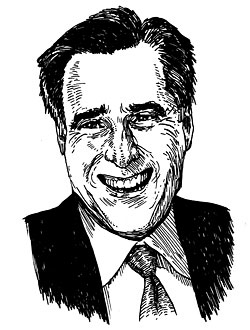 Mitt Romney. Illustration by Tony Millionare