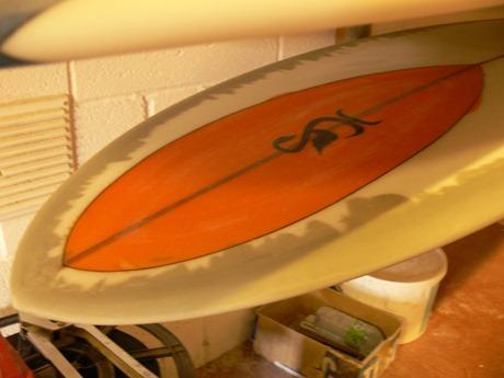Tim Stafford asymmetric longboard