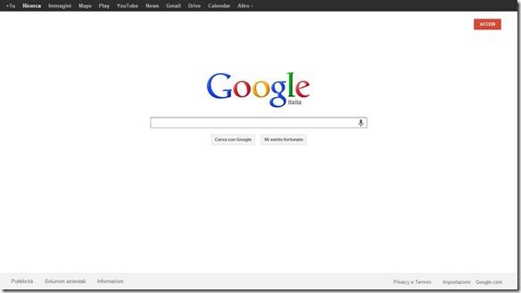 Google Chrome a tutto schermo