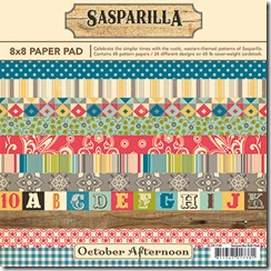 Sasparilla 738 - 8x8 Paper Pad - Cover v2 AS