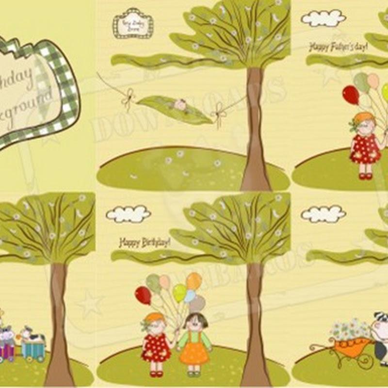 Balões, bichinhos, árvore, trenzinho com bichinhos, vaquinha, flores, bonecas e bebê.