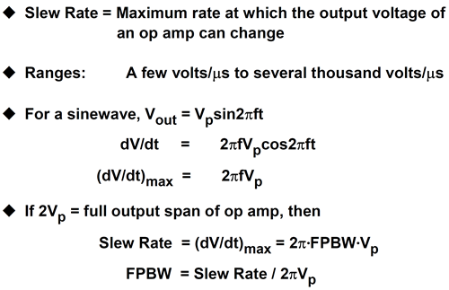 Slew rate and full-power bandwidth