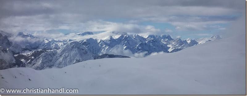 Blick von der Bergstation Schigebiet Sillian