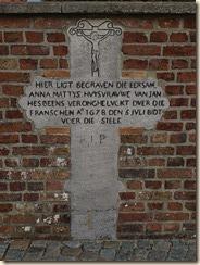 Grafkruis voor Anna Mattys, vrouw van Jan Hesbeens