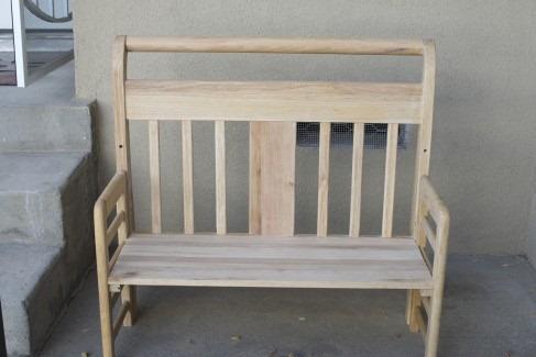 toddler bed repurposed bench photo prop