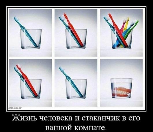 Жизнь-человека-и-стаканчик-в-его-ванной-комнате.