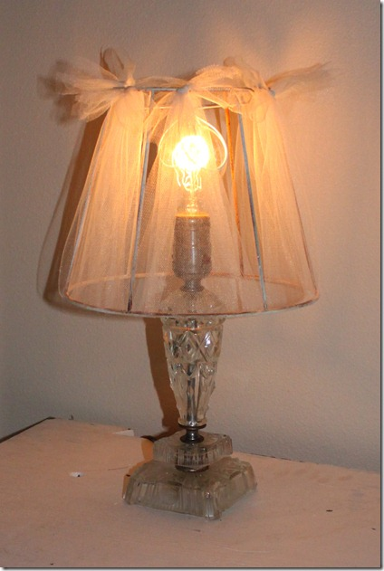 Fishtail cottage lamp shade redo for Redo lamp shades