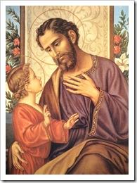 Sao Jose falando com Menino Jesus