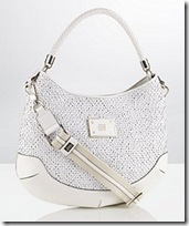 Anya Hindmarch white leather bag