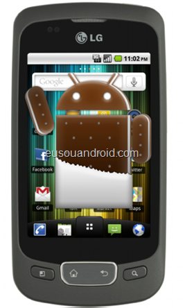 LG P500 Ice Cream Sandwich