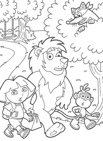 Desenhos Para Colori Dora a aventureira Passeando desenhar