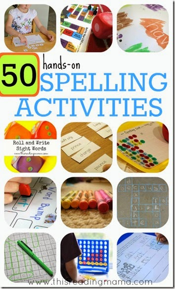 50 hands on spelling games for kids