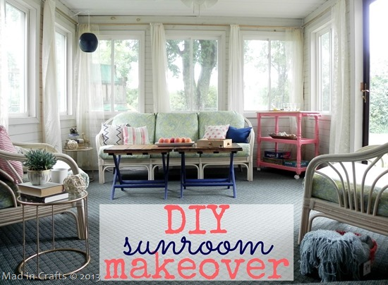 DIY Sunroom Makeover