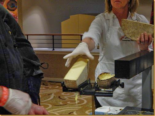 Raclette Being Prepped