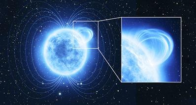 ilustração de uma magnetar