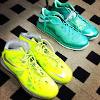 nike lebron 10 low pe green white 1 02 LEBRON X LOW, KOBE 8 and KD V   Nike Easter Collection