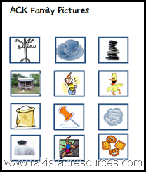 Make ack word family words with corresponding pictures with this free center.  Great for English Language Learners.  From Raki's Rad Resources