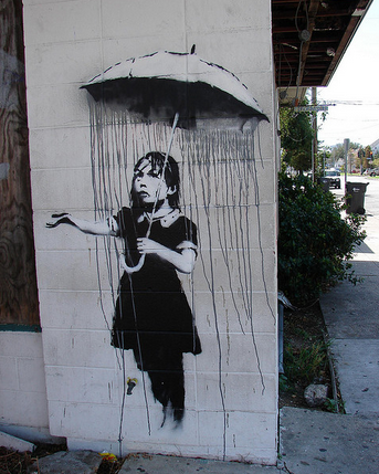 banksy new orleans umbrella