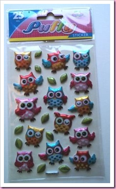 Puffy Owl Stickers Hobbycraft