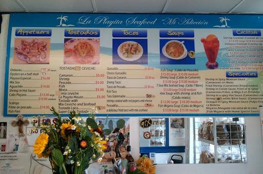La Playa Seafood Menu