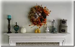 thanksgiving mantel a