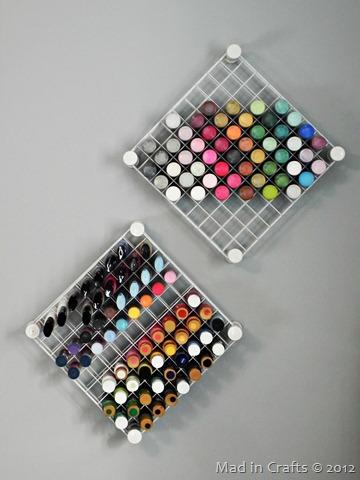 pvc and wire shelf craft paint storage