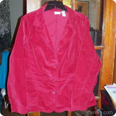 red velveteen jacket