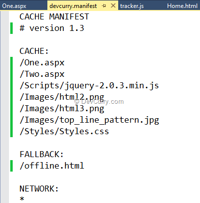 cache-manifest