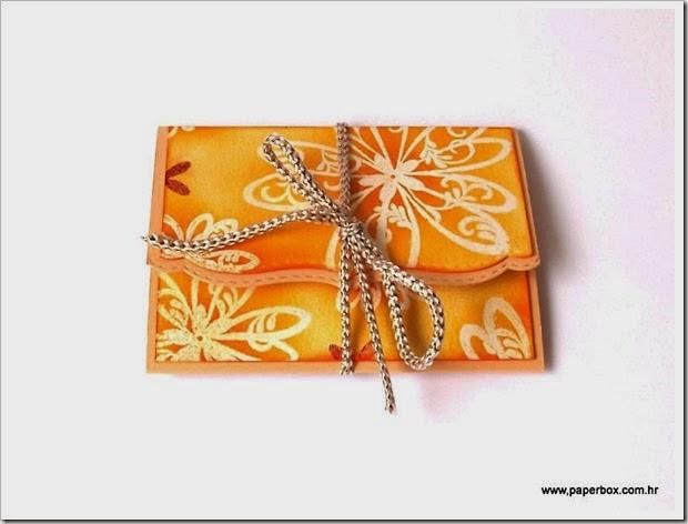 Pakiranje za poklon bon - Gutscheinverpackung (1)
