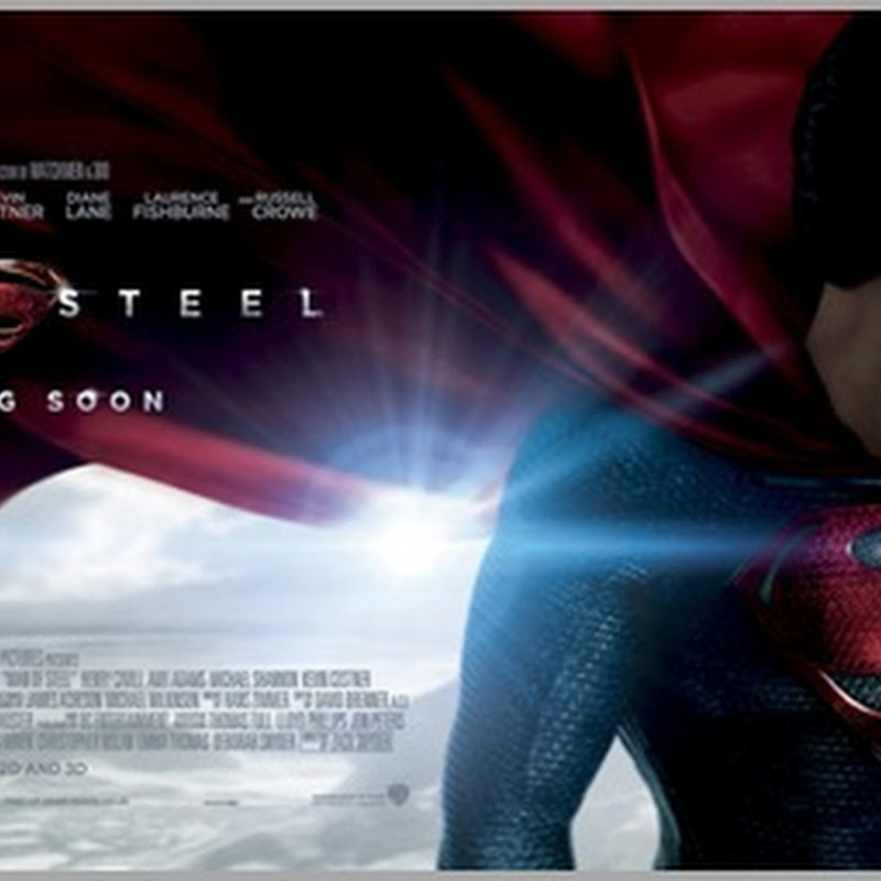 """""""Man of Steel's"""" Cape Highlighted in New Banner"""