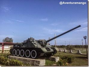 Tanque de guerra no museu de Playa Girón