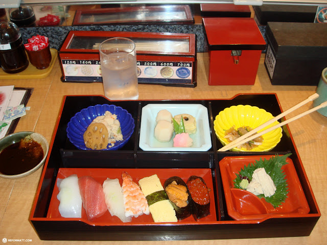 typical japanese brunch box in Shinjuku, Tokyo, Japan