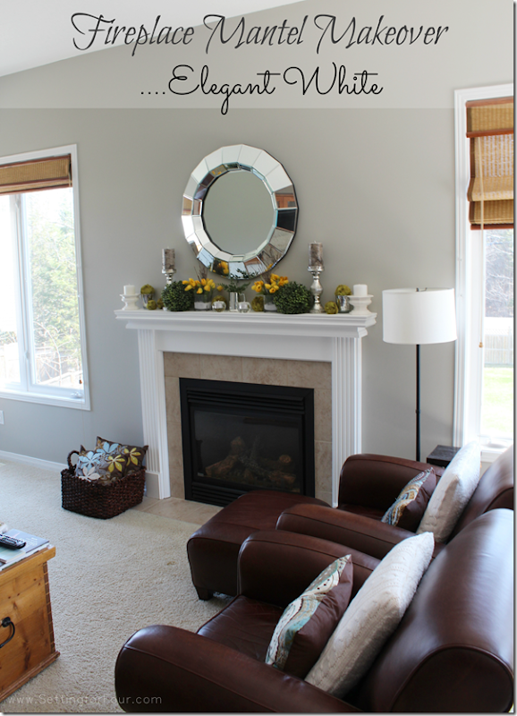 Mantel Makeover in Elegant White from Setting for Four