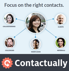 Focus on the right contacts with Contactually CRM