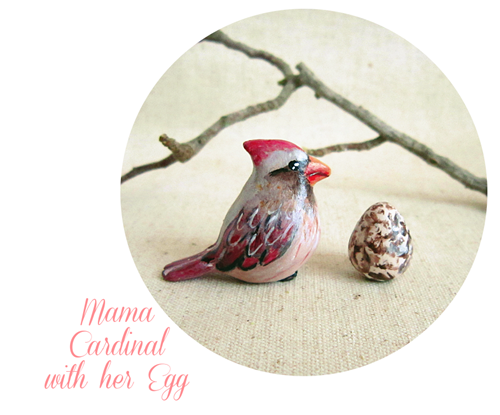 mama cardinal with her hegg blog