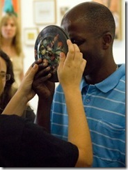 Bienal de Arte: cegos durante visita monitorada