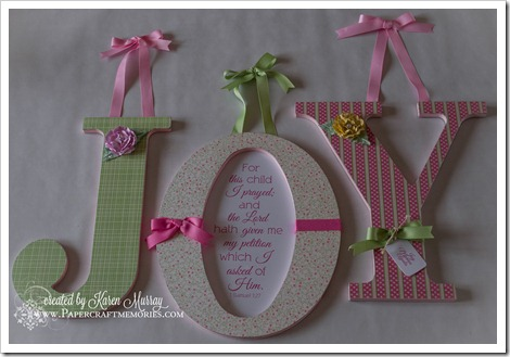 decorated wooden letters www.papercraftmemories.com